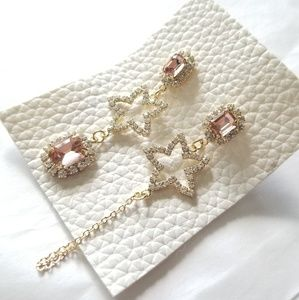 🍒NWOT🍒 CRYSTAL STARS DROP EARRINGS